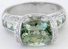 green amethyst engagement ring unique green amethyst diamond bridge engagement ring in 14k gr 2057