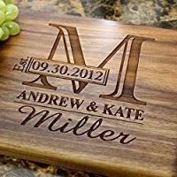 cutting board personalized name personalized engraved cutting board wedding gift