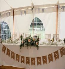 burlap wedding 370cm rustic hessian burlap wedding bunting just married banner