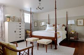 Greige Bedroom Four Poster Bed Transitional Bedroom Sarah Richardson Design