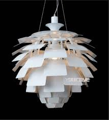 online shop nordic modern pine cone pendant lights fixture white