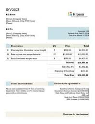 Free Invoice Template Excel 144 Free Invoice Templates For Any Business In Excel And Word