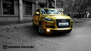Audi Q7 Suv - gold chrome audi q7 wrap wrapfolio