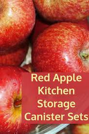 red canister sets for kitchen red apple kitchen storage canister sets kim u0027s home and garden