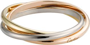 cartier rings images Crb4088900 trinity de cartier ring xs model white gold png