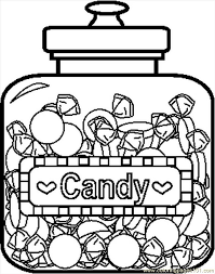 candyjar4bw coloring free candy coloring pages
