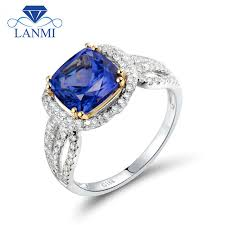 tanzanite engagement ring aliexpress buy cushion 8x8mm tanzanite