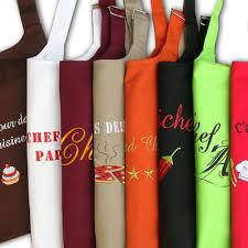 tablier de cuisine enfant personnalisé tablier personnalisé à broder en ligne cadeau personnalisé femme