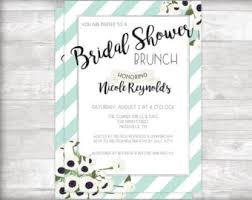 bridal shower brunch invitations bridal shower brunch etsy