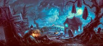 halloween cartoon wallpaper halloween scary horror nights scarecrow pumpkin haunted house hd