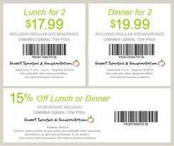 sweet tomatoes coupons lunch for 2 17 99 expires 2 19 2014 http