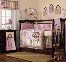 nursery room sets animal baby crib mobile pink and white wall