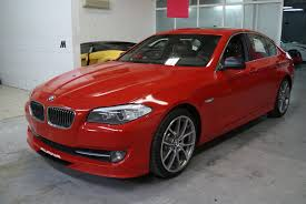 red bmw bmw 5 series red gloss foilacar
