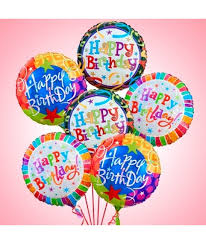 deliver ballons dozen birthday balloon bouquet cupcakedropoff