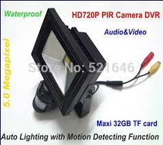 security light with camera wireless new arrival 32g tf card slot pir motion detection flood light camera