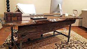 How To Build An Office Desk Rustic Office Desks Diy Desk Plans To Build Your Own Simplified