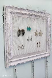 shabby chic plastic canvas diy jewelry organizer 2 crafts