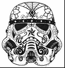 surprising star wars stormtrooper sugar skull coloring pages with
