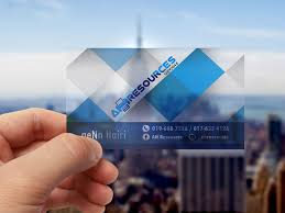 frosted transparent business card oneclicks solution sdn bhd