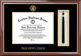 college diploma frame allegheny college diploma frames certificate framing ac gators