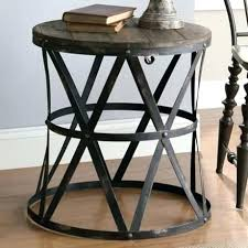 round wood and metal side table wood and metal bedside table folou me