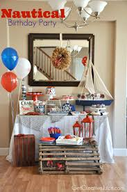 Nautical Decorations For The Home by Nautical Birthday Party Ideas Party Planning Love Pinterest