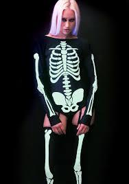 Glow In The Dark Skeleton Costume Halloween Costumes I Want It Black