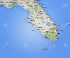 Port St Lucie Fl Map Florida Map Stock Photo Picture And Royalty Free Image Image