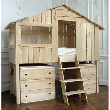 Bunk Cabin Beds Treehouse Big Boy Cabin Bed In Lime Wood Cuckooland