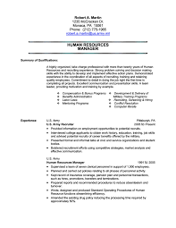 Senior Hr Manager Resume Sample Army To Civilian Resume Examples Resume Example And Free Resume