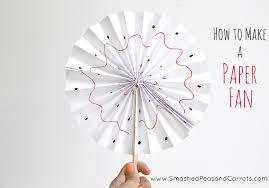 paper fan how to make a paper fan smashed peas carrots