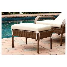 Outdoor Wicker Chaise Lounge Manchester Outdoor 2pc Brown Wicker Chaise Lounge With Cushion And