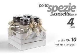 barattoli portaspezie set barattoli portaspezie in ceramica 6 pezzi e un supporto eur