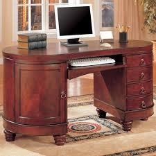 Kidney Shaped Writing Desk Coaster Desks Traditional Kidney Shaped Double Pedestal Computer Desk