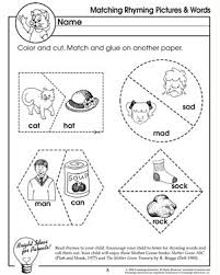 matching rhyming pictures and words u2013 rhyming worksheet for