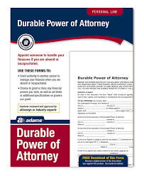 Ohio Durable Power Of Attorney Form by Amazon Com Adams Durable Power Of Attorney Forms And