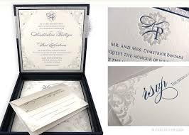 Wedding Invitations Box Luxury Wedding Invitations Paris Blue And Silver Silk Box