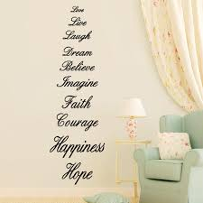 Mural Stickers For Walls Love Live Laugh Dream Believe Imagine Faith Courage Happiness Hope