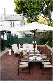 backyards beautiful outdoor backyard table set with food ready