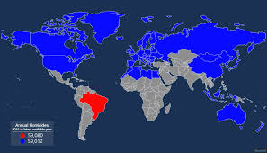 brazil has nearly 60 000 murders a year here s a map to put that