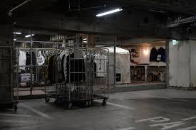 concept store in an underground parking garage