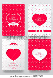 Design For Valentines Card Happy Valentines Day Cards Patterns Ornaments Stock Vector