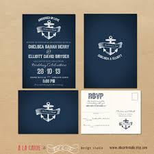 Wedding Invitations And Rsvp Cards Cheap Nautical Anchor Wedding Invitation And Rsvp By Alacartestudio