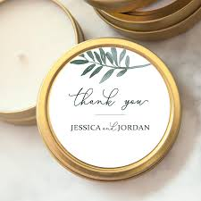 candle favors custom wedding favor candle botanical thank you foxblossom co