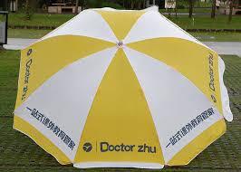 oxford outdoor garden umbrella commercial yellow and white patio