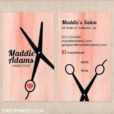 Business Cards Hair Stylist Hair Salon Hairstylist Vintage Appointment Card Business Card