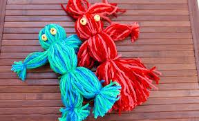 easy craft how to make a yarn doll youtube haammss