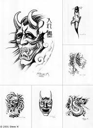 devil mask tattoo design real photo pictures images and