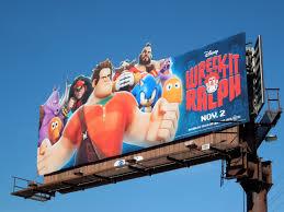daily billboard movie week wreck ralph billboards