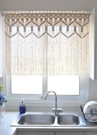 Kitchen Curtain Patterns Inspiration Macrame Kitchen Curtain Custom Macrame Wall Hanging